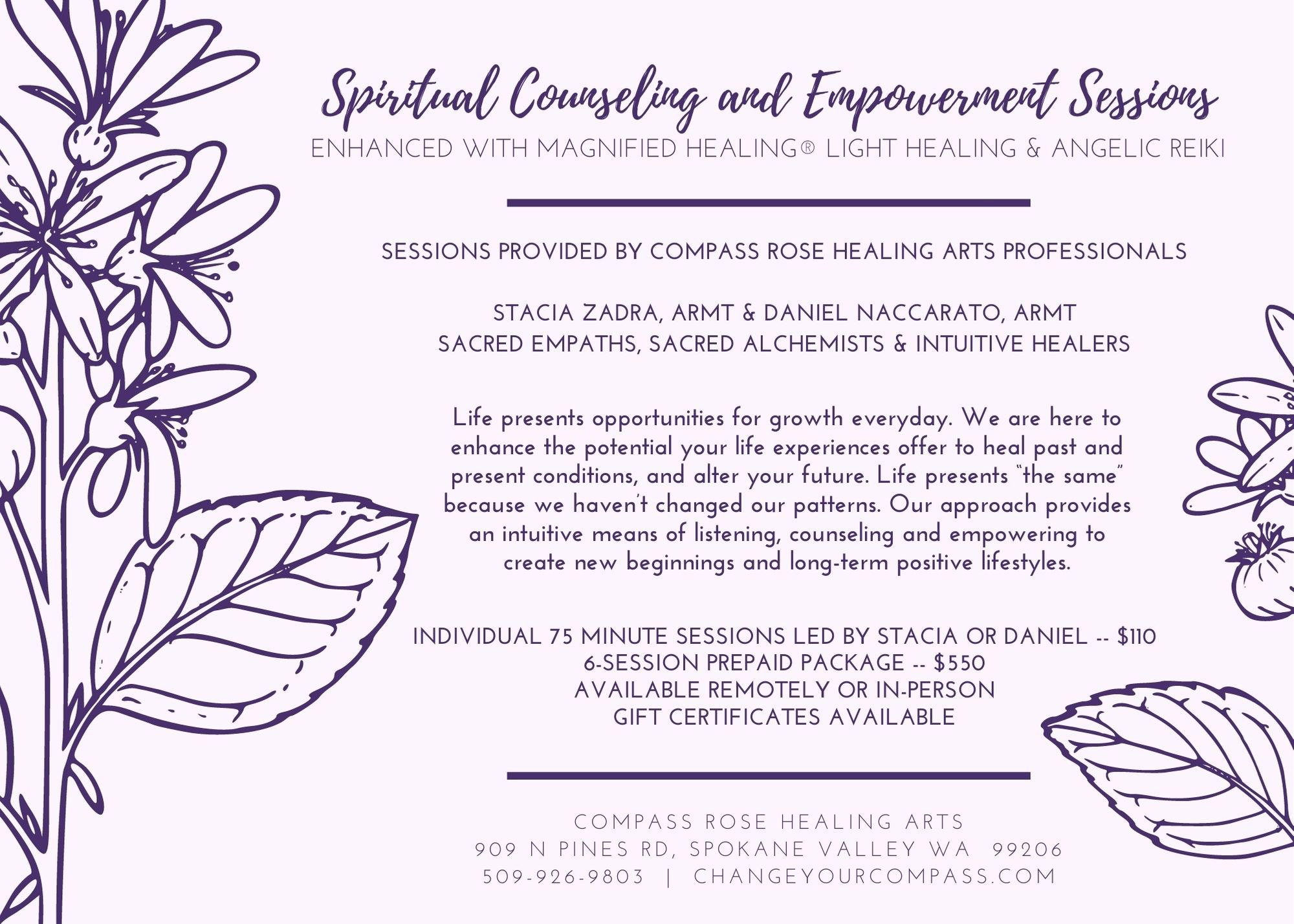 spiritual counseling and empowerment sessions